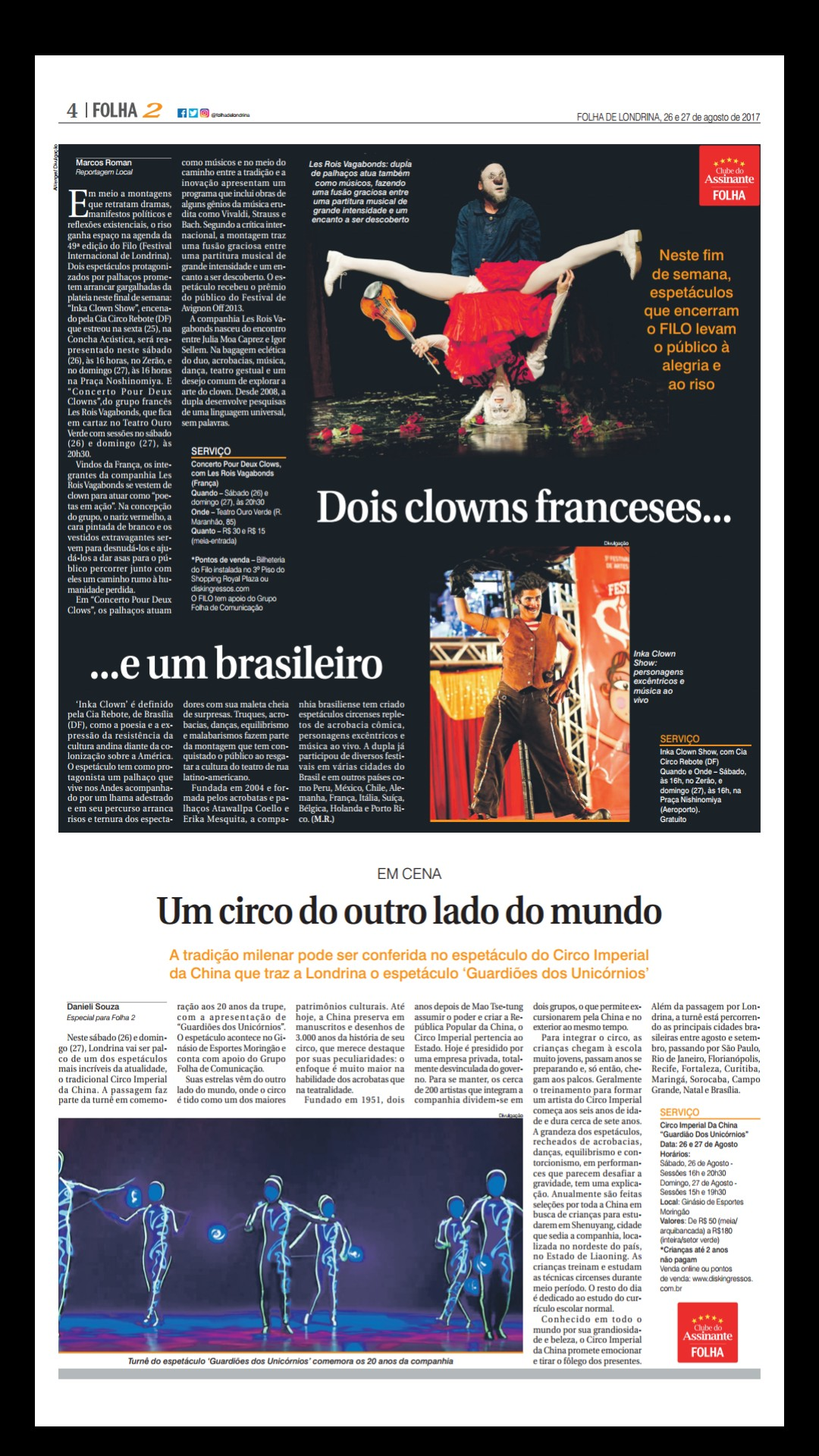 Folha de Londrina Capa