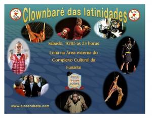 cartaz clownbaré das latinidades 2014